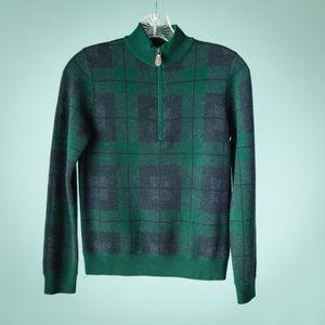 Vineyard Vines S Blue Green Merino Wool Sweater